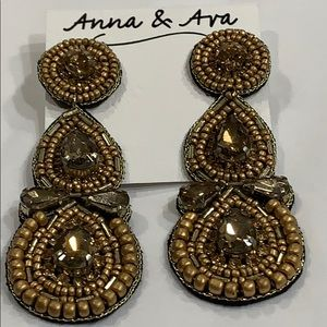 Anna & Ava Bead & Rhinestone Earrings!